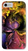 Song Of The Cosmos IPhone Case by Claude McCoy