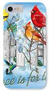 Songbirds Fence IPhone Case by JQ Licensing