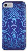 Soul Mates - Blue IPhone Case by Cristina McAllister
