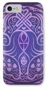Soul Mates - Purple IPhone Case by Cristina McAllister