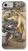 South Wall Of A Mural Depicting Detroit Industry IPhone Case by Diego Rivera