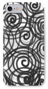 Spirals Of Love IPhone Case by Daina White