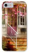 Spring - Door - Dogwood  IPhone Case by Mike Savad