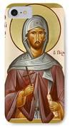St Anastasios The Persian IPhone Case by Julia Bridget Hayes