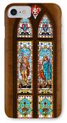 St Michael And St Raphael IPhone Case by Christine Till