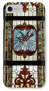 Stained Glass 3 Panel Vertical Composite 03 IPhone Case by Thomas Woolworth