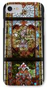 Stained Glass 3 Panel Vertical Composite 06 IPhone Case by Thomas Woolworth