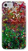 Stained Glass  Fall Reflected In The Still Waters IPhone Case by Lanjee Chee