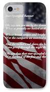 Star Spangled Banner  IPhone Case by Ella Kaye Dickey