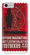 Starschips 02-poststamp - Battlestar Galactica IPhone Case by Chungkong Art