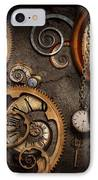 Steampunk - Abstract - Time Is Complicated IPhone Case by Mike Savad