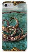 Steampunk - The Tale Of The Kraken IPhone Case by Mike Savad