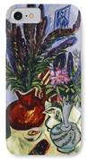 Still Life With A Vase Of Flowers IPhone Case by Ernst Ludwig Kirchner
