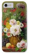 Still Life With Flowers And Fruit IPhone Case by Anthony Obermann