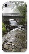 Stone Bridge Over Small Waterfall IPhone Case by Christina Rollo