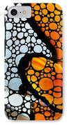 Stone Rock'd Clown Fish By Sharon Cummings IPhone Case by Sharon Cummings