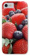 Strawberries Blueberries Mangoes - Fruit - Heart Health IPhone Case by Andee Design