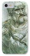 Study For An Apostle From The Last Supper IPhone Case by Leonardo da Vinci