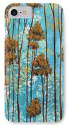 Stunning Abstract Landscape Elegant Trees Floating Dreams II By Megan Duncanson IPhone Case by Megan Duncanson