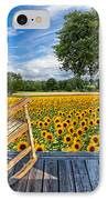 Sunflower Farm IPhone Case by Debra and Dave Vanderlaan