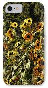 Sunflower Fields Forever IPhone Case by Peggy Hughes