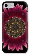 Sunflower Moulin Rouge I Flower Mandala IPhone Case by David J Bookbinder