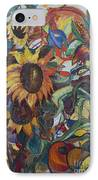 Sunflowers IPhone Case by Avonelle Kelsey