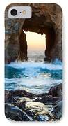 Sunset On Arch Rock In Pfeiffer Beach Big Sur. IPhone Case by Jamie Pham