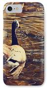 Swimming With Mom IPhone Case by Maria Angelica Maira
