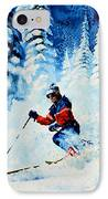Telemark Trails IPhone Case by Hanne Lore Koehler
