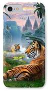Temple Lake Tigers IPhone Case by Jan Patrik Krasny