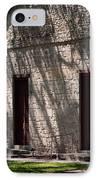 Texas Pioneer Church Doors IPhone Case by Connie Fox