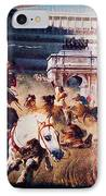 The Chariot Race 1882 IPhone Case by Li   van Saathoff