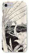 The Elephant's Child Going To Pull Bananas Off A Banana-tree IPhone Case by Joseph Rudyard Kipling