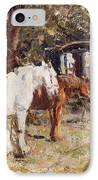 The Gypsy Encampment IPhone Case by Harry Fidler