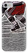 The Hockey Player IPhone Case by Karol Livote