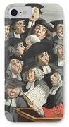 The Lecture, Illustration From Hogarth IPhone Case by William Hogarth