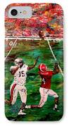 The Longest Yard - Alabama Vs Auburn Football IPhone Case by Mark Moore