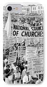 The March For Civil Rights IPhone Case by Benjamin Yeager