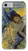 The Pieta After Delacroix 1889 IPhone Case by Vincent Van Gogh