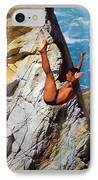 The Plunge   IPhone Case by Karen Wiles