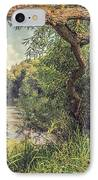 The River Severn At Buildwas IPhone Case by Amanda Elwell