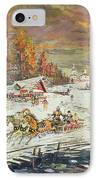The Russian Winter IPhone Case by Konstantin Korovin