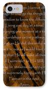 The Serenity Prayer IPhone Case by Andrea Anderegg