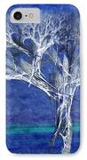 The Tree In Winter At Dusk - Painterly - Abstract - Fractal Art IPhone Case by Andee Design
