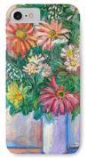 The White Vase IPhone Case by Kendall Kessler