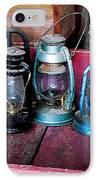 Three Kerosene Lamps IPhone Case by Susan Savad