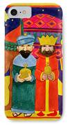 Three Kings And Camel IPhone Case by Linda Benton