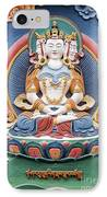 Tibetan Buddhist Temple Deity Sculpture IPhone Case by Tim Gainey