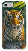 Tiger Pool IPhone Case by MGL Studio - Chris Hiett